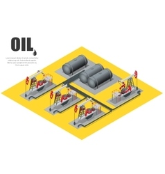 Oil field extracting crude oil oil pump oil vector