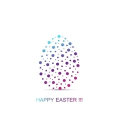 Easter egg on white background vector