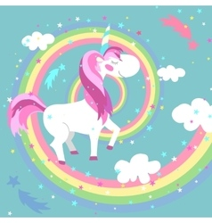 Unicorn  colored rainbow vector