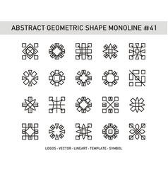 Abstract geometric shape monoline 41 vector