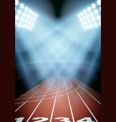 Background for posters night athletics stadium in vector