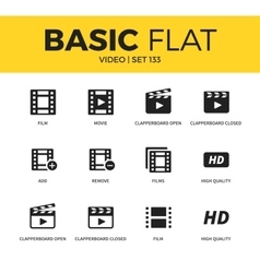 Basic set of Video icons vector image