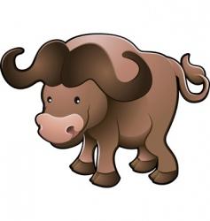 cape buffalo vector image vector image