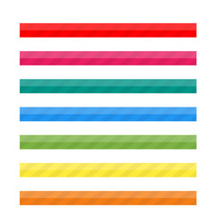 Colored striped lines for web vector