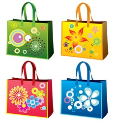 Colourful shopping bag vector
