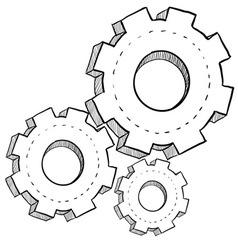 Doodle gears vector