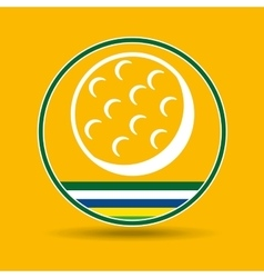 Golf ball sport badge icon vector