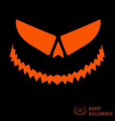 Halloween scary pumpkin template vector