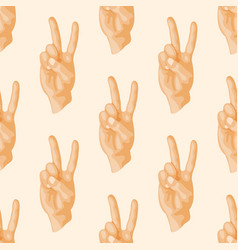 hands deaf-mute seamless pattern gestures human vector image vector image