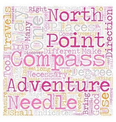 How To Use A Compass text background wordcloud vector image