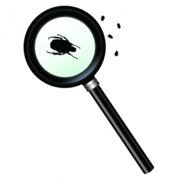 magnifying vector image vector image