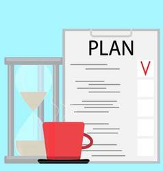 Morning planning concept vector image