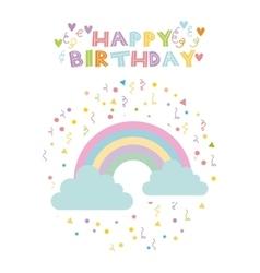 rainbow birthday card vector image vector image
