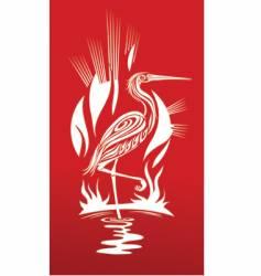 red heron vector image vector image