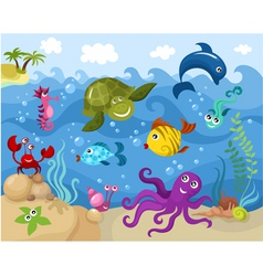 sea life vector image