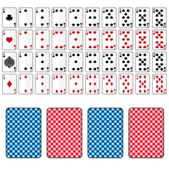 Set of playing cards from ace to ten eps10 vector