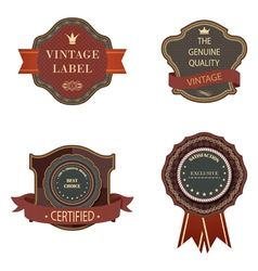 Set of vintage luxury retro labels templates vector image vector image