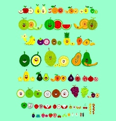 Smile Fruits vector image