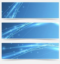 Speed swoosh electric wave lines header set vector