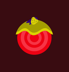 Strawberry donut vector