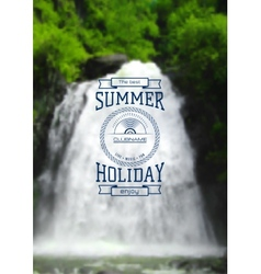Summer holiday label logo on the background vector