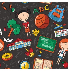 Teaching kids background vector image vector image