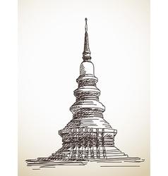 thai stupa Chedi vector image vector image