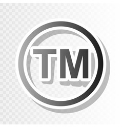 Trade mark sign new year blackish icon on vector