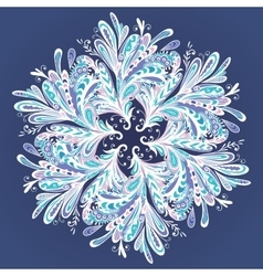 Winter mandala vector