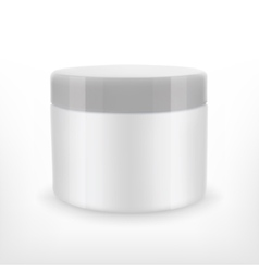 Cream jar mock-up vector