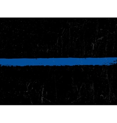 The thin blue line police symbol vector