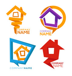 Buy your own home collection of property vector