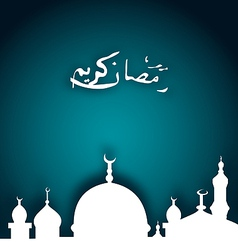 Elegant religious background with beautiful mosque vector image