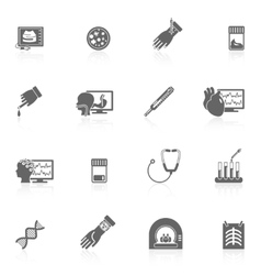 Medical tests icons black vector image
