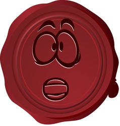 Wax seal smiley 21 vector