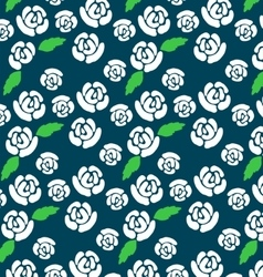 Pattern of white roses vector image