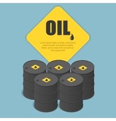 Metal oil barrel oil petroleum tank car tanker vector
