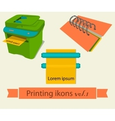 Print icons set 1 vector
