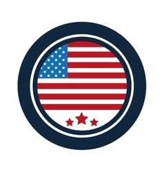 united states badge icon vector image