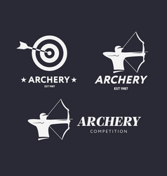 abstract archery logo badge concept vector image