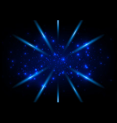 abstract blue ligth space concept background vector image vector image