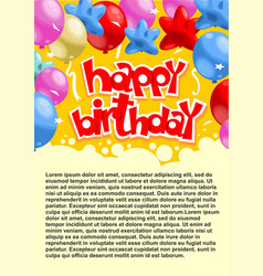 Abstract celebrating birthday party poster vector