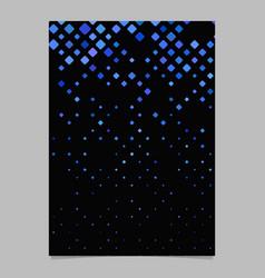 Abstract digital diagonal square pattern poster vector