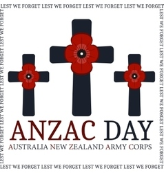 Anzac day Greeting card vector image vector image