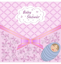 baby shower with boy vector image vector image