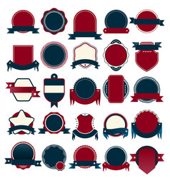 Badge collection for sale and guarantee tag vector