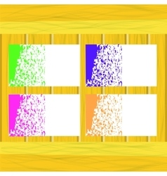Banners of Colored Splashes Paint vector image vector image