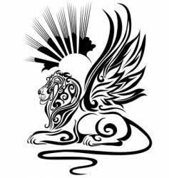 Black sphinx vector