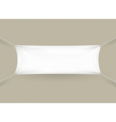 Blank white rectangular horizontal banner vector