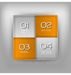 business four squares orange with text vector image vector image